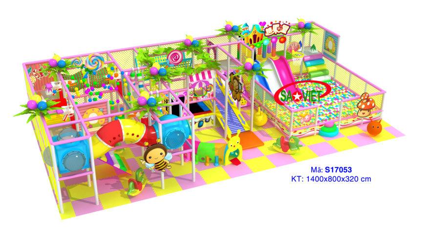 nhà vui chơi liên hoàn trong nhà cho bé